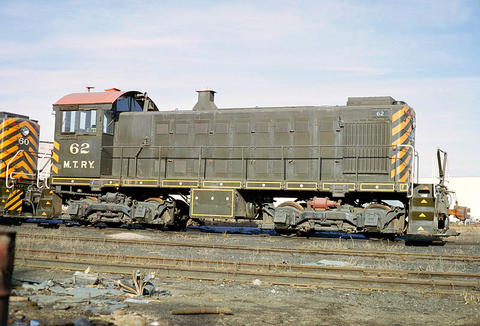 MTRY 62 In its Minnesota Transfer colors.  Picture taken by Keith Ardinger, submitted by Ed Raye.