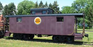 A CGW caboose blt.1946 at the National Railroad Museum in Green Bay, Wisconsin.